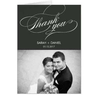 Kort för elegant brölloptackfoto