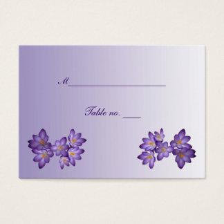 Kort för eskort för bröllop för lilavår blom-