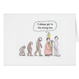 Kort för evolutiontecknadfödelsedag