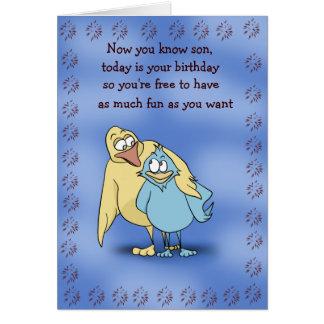 Kort för far- och Sonfågelfödelsedag
