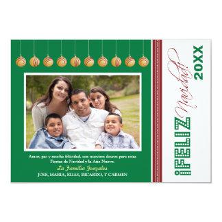 Kort för Feliz Navidad beställnings- familjhelgdag Inbjudan