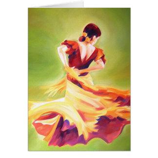 Kort för flamencodansarehälsning