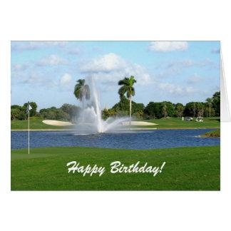 Kort för födelsedag för Florida golfbana