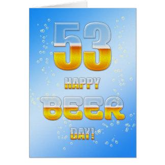 Kort för födelsedag för lycklig öldag 53rd