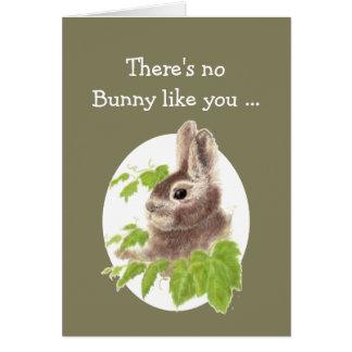 Kort för födelsedag för söt kaninkanin roligt