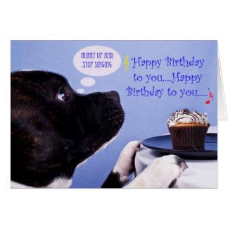 Kort för födelsedag för Staffordshire tjurterrier