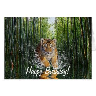 Kort för födelsedag för tigerungehotade arter