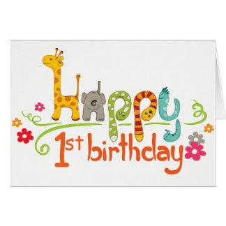 Kort för födelsedag för Zoolycklig första