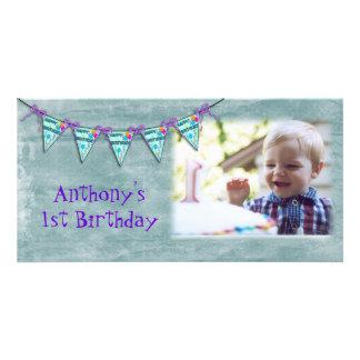 Kort för födelsedagbanerfoto foto kort