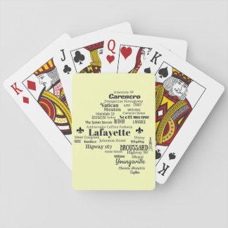 Kort för för Lafayette församlingLouisiana städer Spel Kort