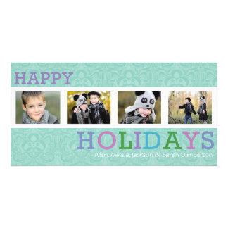 Kort för foto för 4 jul för foto chic pastellfärga anpassade foto kort