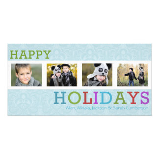 Kort för foto för 4 jul för fotochicfrost fotokort
