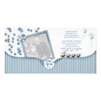 Kort för foto för baby med hjärtfelduschtack från  fotokort
