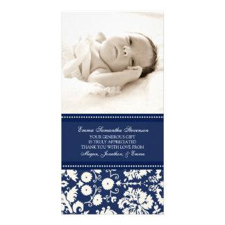 Kort för foto för baby shower för blåttvittack fotokort