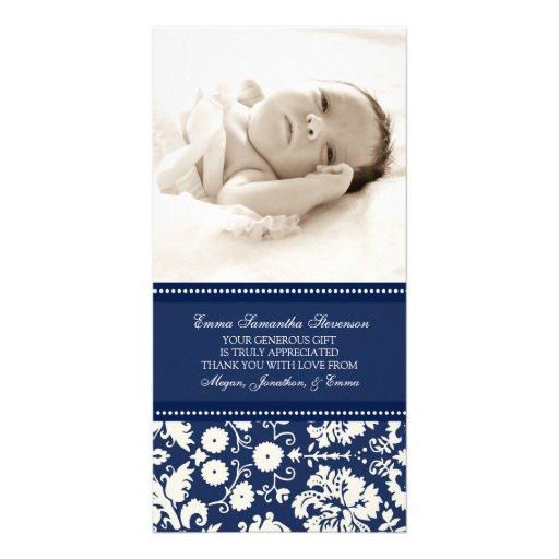 Kort för foto för baby shower för blåttvittack anpassingsbara fotokort