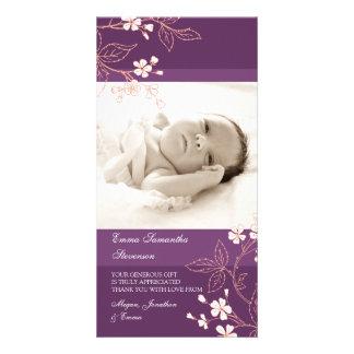 Kort för foto för baby shower för fotokort