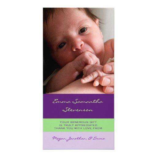 Kort för foto för baby shower för lilalimefrukttac anpassade foto kort