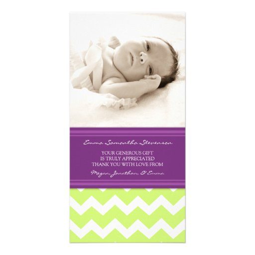 Kort för foto för baby shower för limefruktplommon fotokort