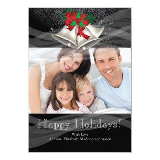 Kort för foto för familj för helgdag för 12,7 x 17,8 cm inbjudningskort