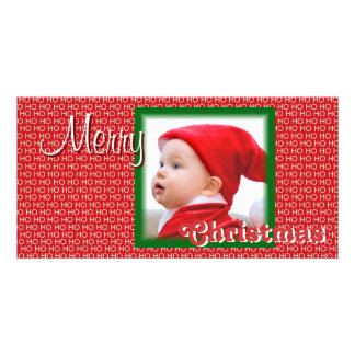 Kort för foto för god julSanta baby Fotokort
