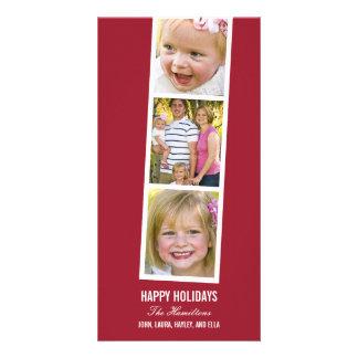 Kort för foto för helgdag för fotobåsstil fotokort