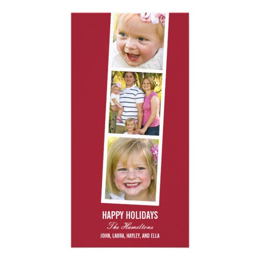 Kort för foto för helgdag för fotobåsstil anpassingsbara fotokort