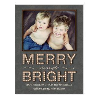 Kort för foto för helgdag för stort vykort
