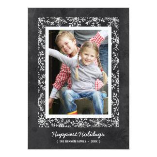Kort för foto för helgdag för svart tavla för 12,7 x 17,8 cm inbjudningskort