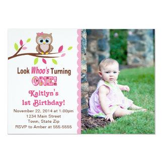 Kort för foto för inbjudan 5x7 för födelsedag för