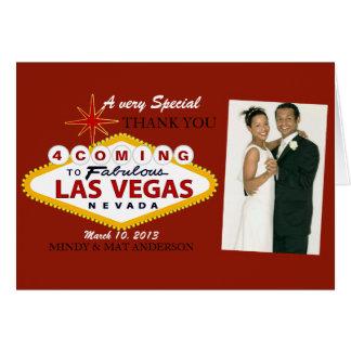 Kort för foto för Las Vegas brölloptack