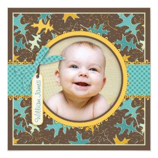 Kort för foto för meddelande för höst fyrkantigt 13,3 cm inbjudningskort