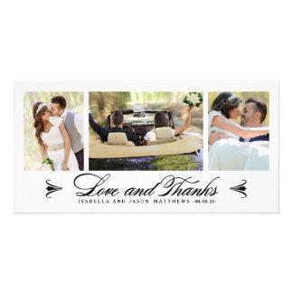 Kort för foto för tack för elegansCollage   gifta