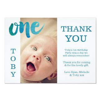 Kort för foto för tack för födelsedag för 11,4 x 15,9 cm inbjudningskort