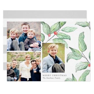 Kort för foto för vinterbärhelgdag 3 12,7 x 17,8 cm inbjudningskort