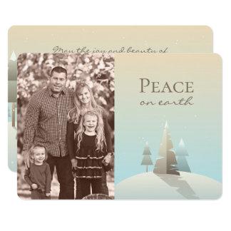 Kort för foto för vinterplatshelgdag 12,7 x 17,8 cm inbjudningskort