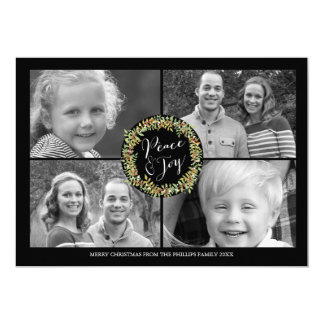 Kort för fred- och glädjejulfoto - style2 12,7 x 17,8 cm inbjudningskort