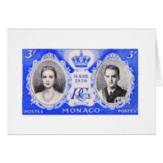 Kort för frimärke för Monaco royaltyporto