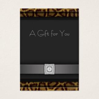 Kort för gåva för Leopardaffärspresentkort