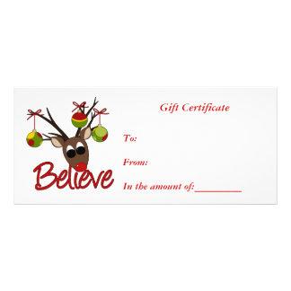 Kort för gåvaCertifikat-Jul-Affär kugge