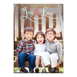 Kort för glädje- & kärlekhelgdagfoto 12,7 x 17,8 cm inbjudningskort