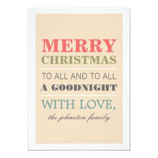 Kort för god julfotolägenhet 12,7 x 17,8 cm inbjudningskort