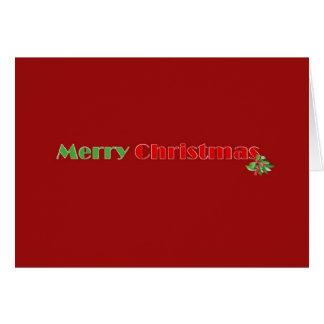 Kort för god julWinterberryjärnek