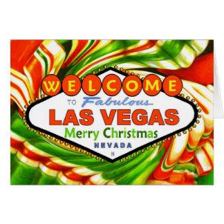 Kort för godis för Las Vegas julband