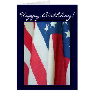Kort för grattis på födelsedagenamerikanska