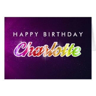Kort för grattis på födelsedagenCharlotte hälsning