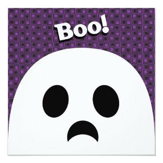 Kort för Halloween spökeinbjudan Fyrkantigt 13,3 Cm Inbjudningskort