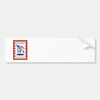 Kort för hälsning för affisch för amerikanpatriotm bildekaler