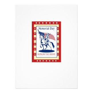 Kort för hälsning för affisch för amerikanpatriotm individuella inbjudningskort