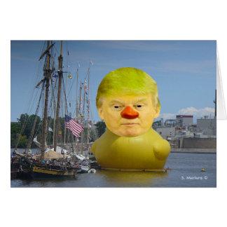 Kort för hälsning för anka för Donald Trump