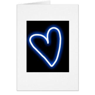 kort för hälsning för blåtthjärta tomt